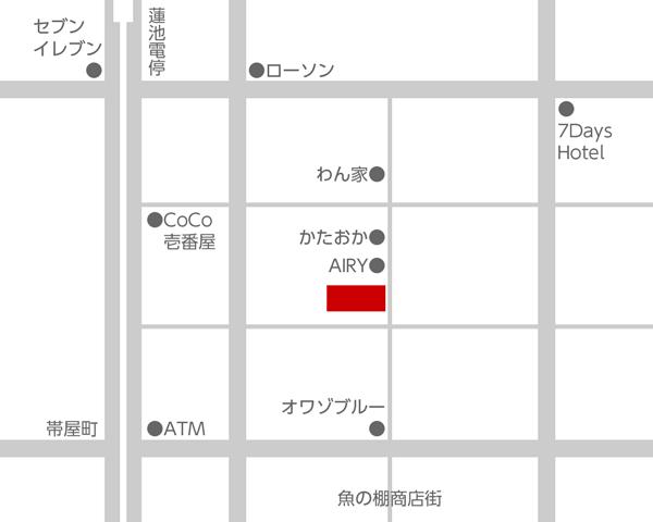 雪月花 地図(高知市はりまや町周辺)