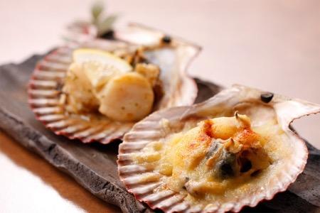 長太郎貝ガーリックバター焼とチーズ焼