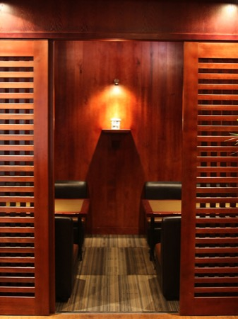 格調ある雰囲気の個室